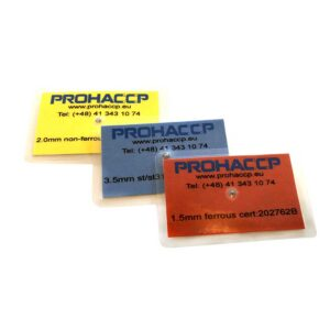 P0382- - Metal detector test piece Laminated Card 108x64mm